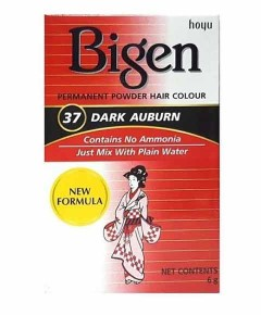 Bigen Permanent Powder Hair Colour 37 Dark Auburn