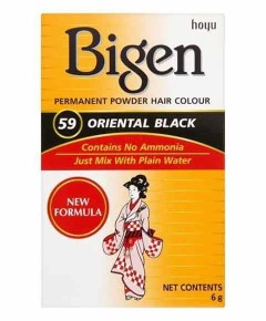 Bigen Permanent Powder Hair Colour 59 Oriental Black