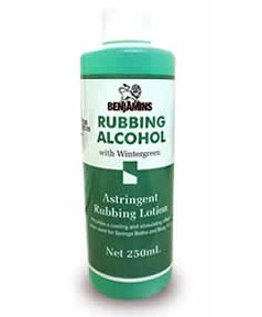 Rubbing Alcohol With Wintergreen
