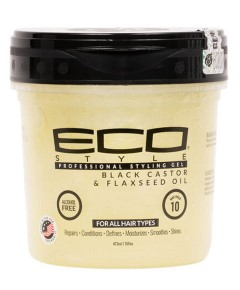 Eco Style Black Castor Oil And Flax Seed Oil Styling Gel