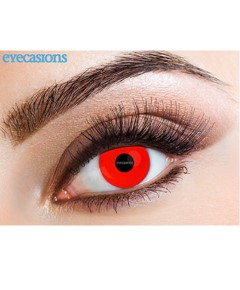 Halloween Contact One Day Lens Wild Red