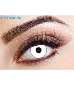 Halloween Contact One Day Lens Wild White