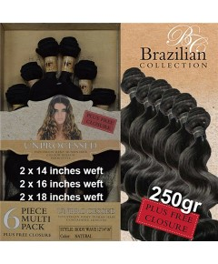 Brazilian Collection Unprocessed Virgin Remy HH Body Wave 6Pcs