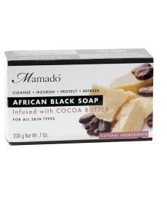 African Black Soap Infused With Cocoa Butter