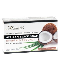 African Black Soap Infused With Coconut