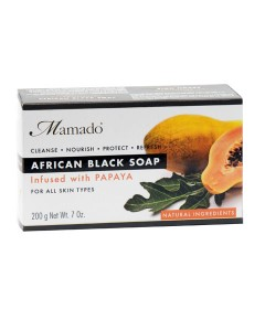 African Black Soap Infused With Papaya