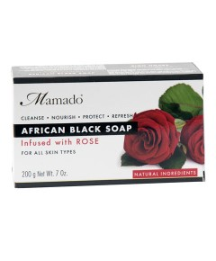 African Black Soap Infused With Rose