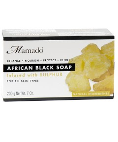 African Black Soap Infused With Sulphur
