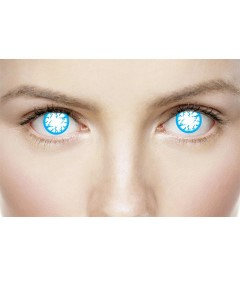 Xtreme Eyez Halloween Contact Lens Blind Lightning