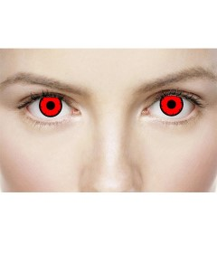 Xtreme Eyez Halloween Contact Lens Dead Red