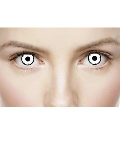 Xtreme Eyez Halloween Contact Lens Dead White