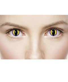 Xtreme Eyez Halloween Contact Lens Purple Kitty