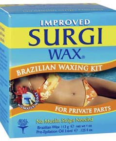 Surgi Wax Brazilian Waxing Kit For Private Parts
