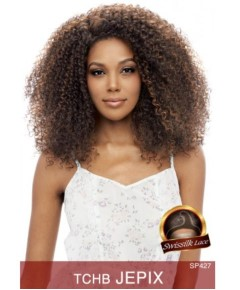 Honey C Brazilian Human Hair Blend Lace Front Wig Jepix