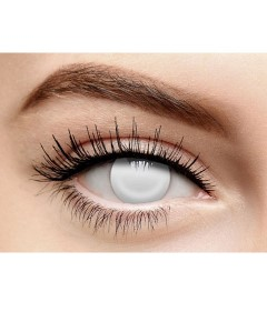 Xtreme Eyez Halloween Contact Lens Blind White