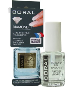 Coral Diamond Shine Strength Nail Hardener Base And Top Coat