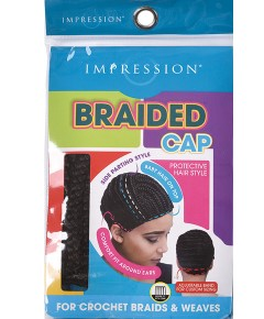 Side Parting Style Braided Cap