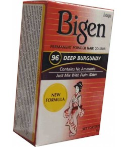 Bigen Permanent Powder Hair Colour 96 Deep Burgundy