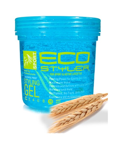 eco styler gel hair styles treated blue professional styling gel colour jar ecoco 3847