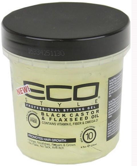 black hair styling gel black castor and flax seed styling gel ecoco non 8313